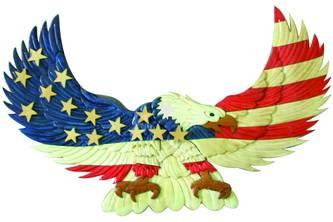 Ea01 Eagle Red Whiteblue World Designs Inc